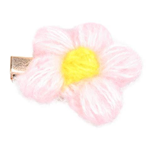 Happyyami Fleur Broche Mignon Fil Pince à Cheveux Coloré Femmes Bijoux Fournitures pour Dames Anniversaire Mariage Anniversaire Fête (Rose)