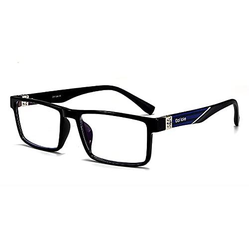 CHENPENG Gafas de Lectura con Bloqueo de luz Azul, Lentes Ligeras con Filtro antideslumbrante con bisagra de Resorte para Hombres, Mujeres, anteojos antirreflejos/Rayos UV,A,1.5X