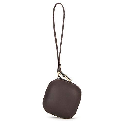 Porte-monnaie, sac à main en cuir véritable, mini portefeuilles avec porte-clés à glissière, parfait pour la monnaie, papier-monnaie, clé, protection pour écouteurs Bluetooth sans fil