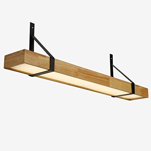 HRSS Einfacher Massivholz-Wandleuchten mit LED-Shelf Nachttischlampe Schlafzimmer Badezimmer Lampen