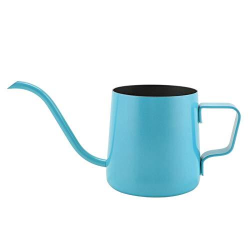 FOTABPYTI Hervidor de Cuello de Cisne, cafetera de Acero Inoxidable de 250 ml de Grado alimenticio, Textura Gruesa Exquisita para café en casa(Blue)