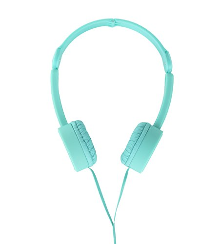 Pop Tone Comfort Headphones with Folding Arms, Turquoise