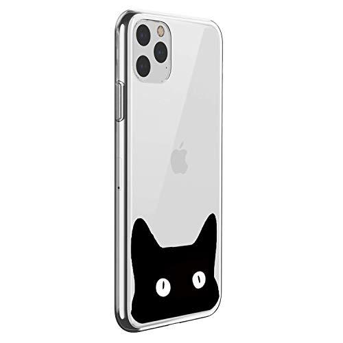 Suhctup Carcasa de silicona compatible con iPhone 11 Pro Max 6,5 pulgadas, con estampado de gatos bonitos dibujos de TPU suave, fina y cristal transparente, funda protectora de gel de gato 7)