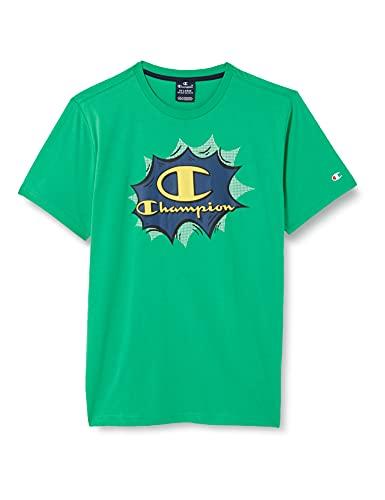Champion Seasonal Graphic Shop Comics Crewneck T-Shirt, Green, 5-6 Years Bambino