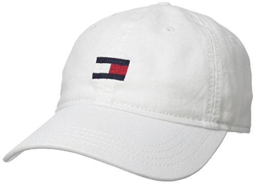Tommy Hilfiger Men's Ardin Dad Hat, Tommy White, One Size