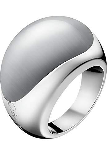Calvin Klein Damen-Damenring Edelstahl Farbstein 55 Silber/grau 32000091