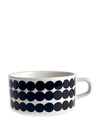 Marimekko - Teetasse, Tasse - Oiva-Siirtolapuutarha - Steingut - Weiß-Schwarz - 250 ml - 1 Stück