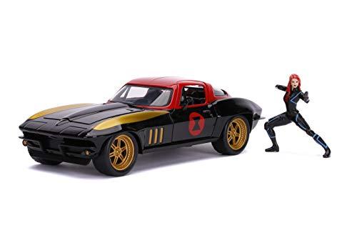 Jada JA31749 1:24 1966 Chevy Corvette e vedova nera