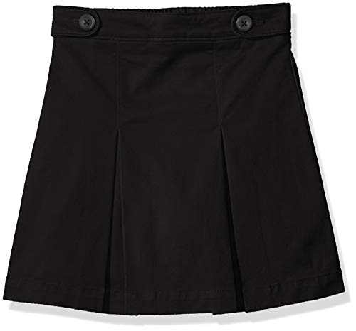 Amazon Essentials Skort für Mädchen, Uniform-Skort, Black, US L (EU 134-140 CM, S)