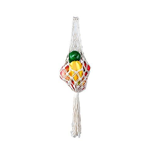 Cesti di frutta sospesi per cucina, amaca, frutta in macramè di Boemia tessuto a mano, tasca in rete, salva spazio per le cucine, regali di decorazione d'arte.