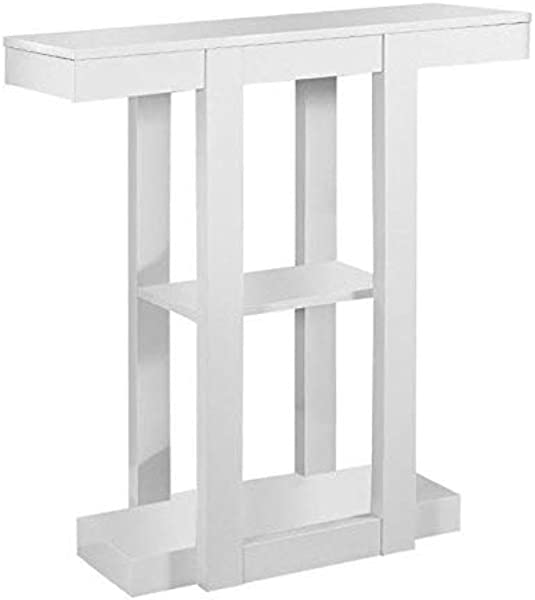 Monarch Specialties I 2455 Hall Console Accent Table 32 White