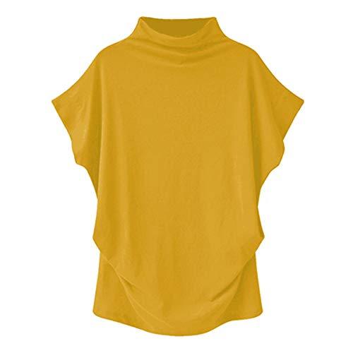 Mujeres Batwing Jerséis de Manga Larga Tops Cuello Redondo Sudadera Irregular con Estampado Floral Camiseta Holgada de Gran tamaño Pullover Sólido Suelto Corta Blusa de túnica Informal Jersey de Polo