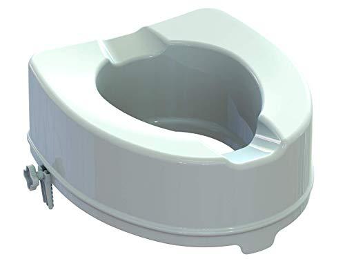 Gima Rialzo WC, Alzawater anatomico con sistema di fissaggio laterale, portata massima: 200 kg, Altezza 14 cm