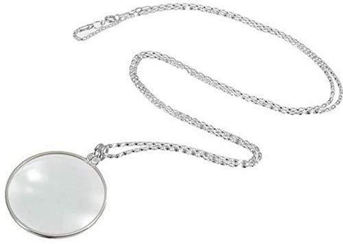 Lupe Dekorative Monokel-Halskette mit 5-facher Lupe Anhänger Gold vergoldete Kette Halskette für Damenschmuck