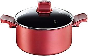 Tefal C6824475 Non Stick Induction Casserole Cooking Pot With Lid, 20 cm, Aluminum