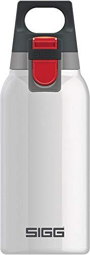 SIGG Hot und Cold ONE White Thermo Trinkflasche (0.3 L), schadstofffreie und isolierte Trinkflasche, einhändig bedienbare Thermo-Flasche aus Edelstahl