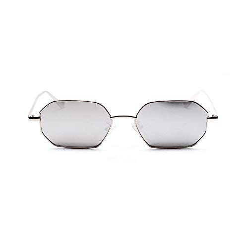 Hombres Retro Gafas De Sol Gafas De Sol De Moda para Mujer, Retro, Clásico, Gris, Polígono, Gafas De Sol para Mujer, Espejos Negros Vintage, Lentes Transparentes De Color, Gafas De Sol Uv4
