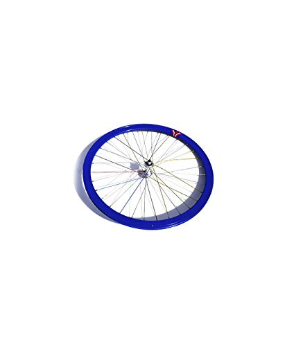 Riscko 004l Rueda Trasera Bicicleta Personalizada Fixie Talla L Azul