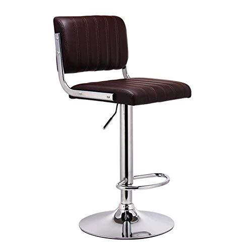 JIEER-C vrijetijdsstoelen barkruk draaibare hoge stoel in hoogte verstelbaar keuken ontbijtbaar Pub Café barkruk Duurzaam sterk 63-83cm bruin