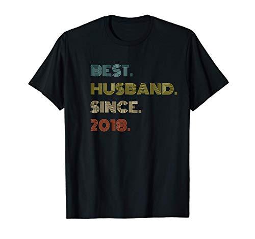 Hombre Regalo del 2º Aniversario de la Boda El mejor marido desde 2 Camiseta
