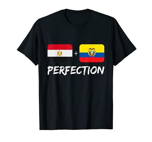 Egipto Plus Ecuatorian Perfection Mix Bandera Patrimonio Camiseta