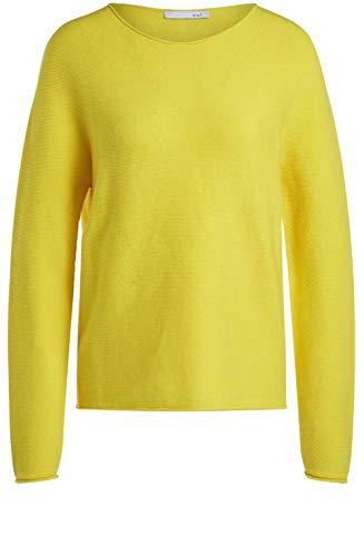Oui Pullover mit Rundhalsausschnitt gelb (2282 Vibrant Yellow) 42