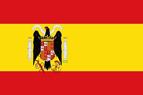magFlags Bandera Large Régimen franquista según el Escudo adoptado por el Decreto de 2 de febrero de 1938. Más información en | Bandera Paisaje | 1.35m² | 90x150cm