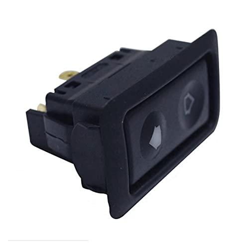 YSYSPUJ Botón de Interruptor de la Ventana eléctrica de la Ventana 20A para Todos los Autos con luz LED Verde Interruptor de automóvil Universal Coche Accesorios para automóviles 12V / 24V