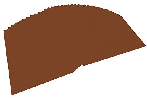 folia 6485 - Tonpapier schokobraun, DIN A4, 130 g/qm, 100 Blatt - zum Basteln und kreativen Gestalten von Karten, Fensterbildern und für Scrapbooking
