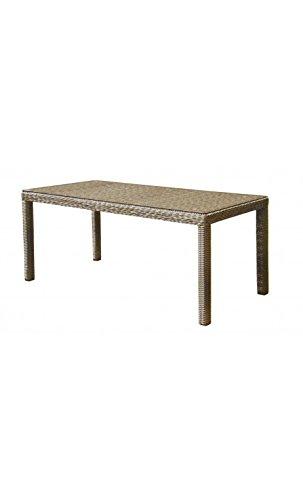 Cor Mulder – Esstisch für den Außenbereich, 180 cm, geflochten, Beige Nizza