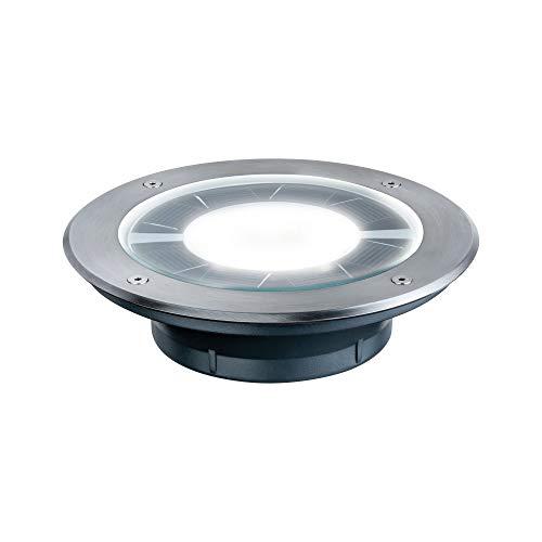 Paulmann 93776 Bodeneinbauleuchten-Set Solar Einbaustrahler Pandora LED Spot Edelstahl 1er Set 1X0,36W inkl. Leuchtmittel Außenbereich