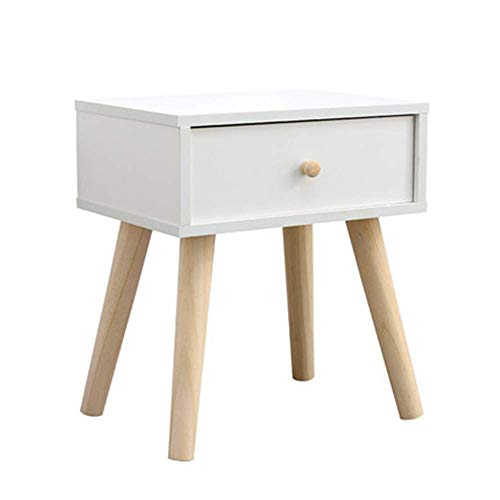 ZGQA-GQA Simple Bedside Table Nordic Mini Small Apartment Bedroom Bedside Cabinet Narrow Cabinet Solid Wood Leg Economy Locker