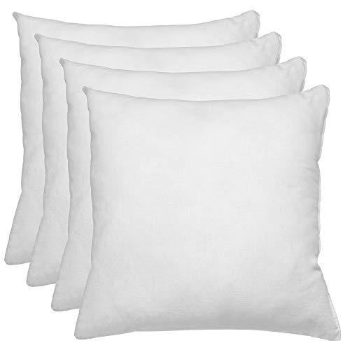 Relleno de cojin 70x70 Pack 4 Unidades / Relleno de Fibra Hueca conjugada siliconada Ideal para Rellenar Cojines Decorativos ,Cojines para Cama, Cojines de Sofa, almohadones