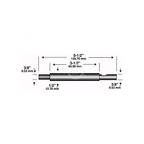 Find Bargain Edger Shaft 5-1/2X3/8X 3/8
