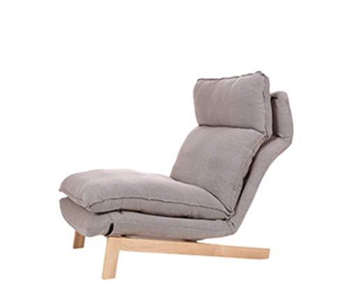 Tragbares Sofa Sofa Freizeitsitz Einfach Zusammenklappbar Lazy Couch Schlafzimmer Wohnzimmer Freizeit Bequeme Liege Kleines Sofa 74 × 65 cm (Farbe: Grau, Größe: A)