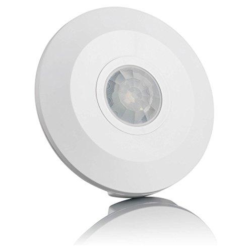 SEBSON® Bewegungsmelder Innen, Aufputz Decken Montage, programmierbar, Infrarot Sensor, Reichweite 6m / 360°, Bewegungssensor LED geeignet, 3-Draht