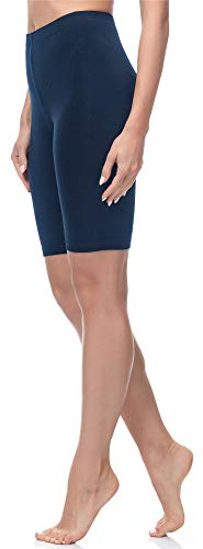 Merry Style Leggings Corti Pantaloncini Donna MS10-200 (Blu Marino, S)