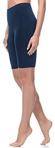 Merry Style Mallas Cortas Leggins Mujer MS10-200 (Azul Marino, XL)