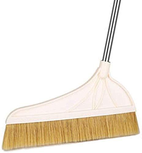 DIAN Handgriff lang Besen Energie Corner Large Angle Broom Verwendung im Innen- oder Aussen Einfach for Besenstrich, Fegen, Reinigung, Hauswirtschafts (Color : White)