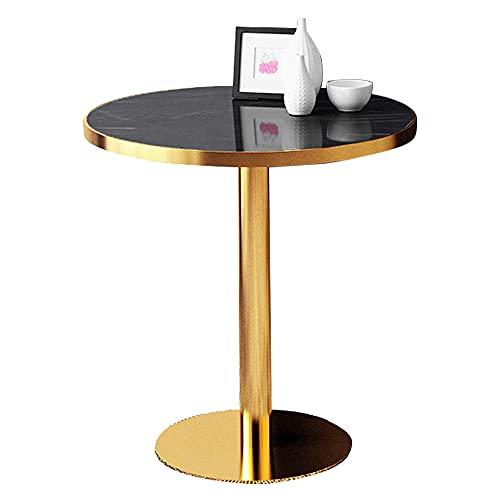 tavolino da caffè in marmo, piano del tavolo in marmo nero e struttura in acciaio inossidabile dorato, tavolo centrale moderno della camera da letto del soggiorno, mobili decorativi per conferenze d