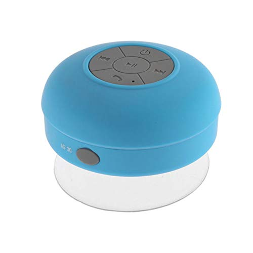 NAttnJf Impermeable Ducha Estéreo Inalámbrico Bluetooth baño Altavoz música de aspiración Impermeable