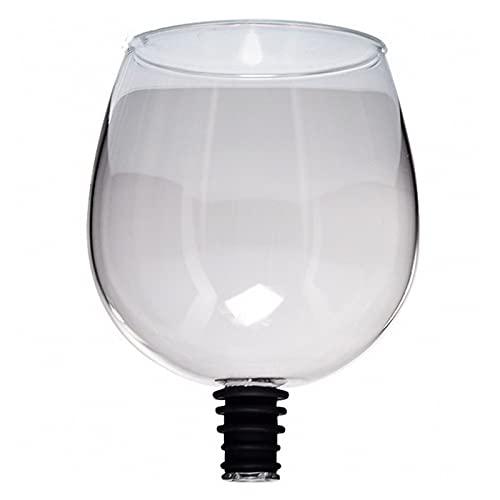 HHH Copa de Vidrio de champán de Vino Tinto Creativo con Bebida de Sello de Silicona Directamente de Botella de Cristal Gafas Taza de cóctel 260ml HHH