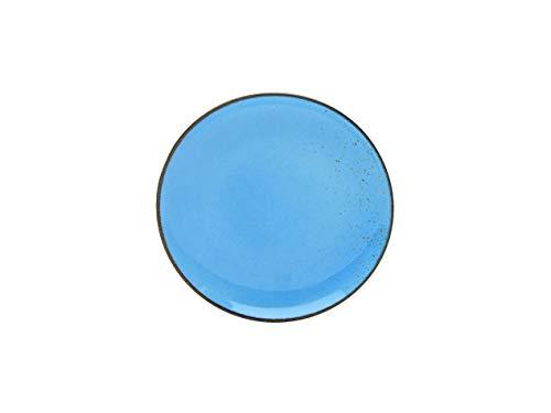 Creatable, 6-er Dessertteller 21 cm, Nature Collection, BLUE 22062, Steinzeug