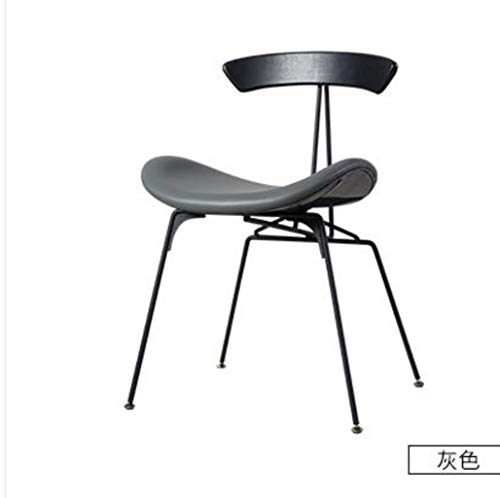 YUJINMAOYI Industrie Stil Esszimmerstuhl Designer Licht Retro-LOFT Schmiedeeisen Stuhl Ameise Stuhl einfach Massivholzstuhl,5