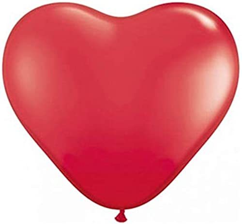 Everflag Luftballons Herz, rot 90 cm Umfang 1000er Pack