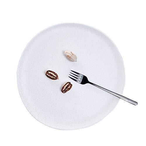 Tazón de cultura folclórica, el restaurante cuenta con platos creativos, platos calientes, platos de restaurantes ovalados irregulares y de cerámica mate (color: blanco, tamaño: 12 pulgadas)
