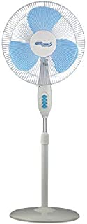 Super General Pedestal Fan, Oscillation, adjustable in height up to 140 cm, 3 Speed, white, energy-saving, 50W, SGSF28M