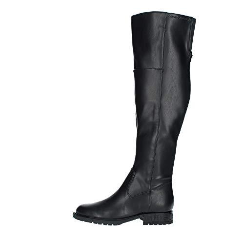 Guess Damen RANIELE2/STIVALE (Boot)/Leathe Overknee-Stiefel, Schwarz, 39 EU