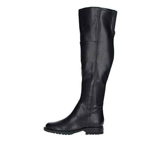 Guess Damen RANIELE2/STIVALE (Boot)/Leathe Overknee-Stiefel, Schwarz, 38 EU