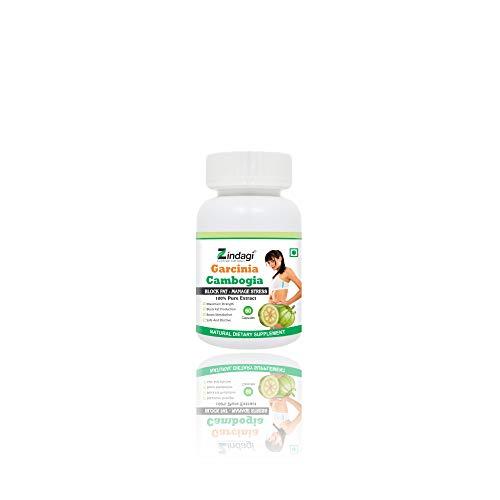 Zindagi Garcinia Cambogia Extract Capsules – Weight Management Supplement – 100% Pure Natural, Herbal – Fat Blocking (60 Capsules)